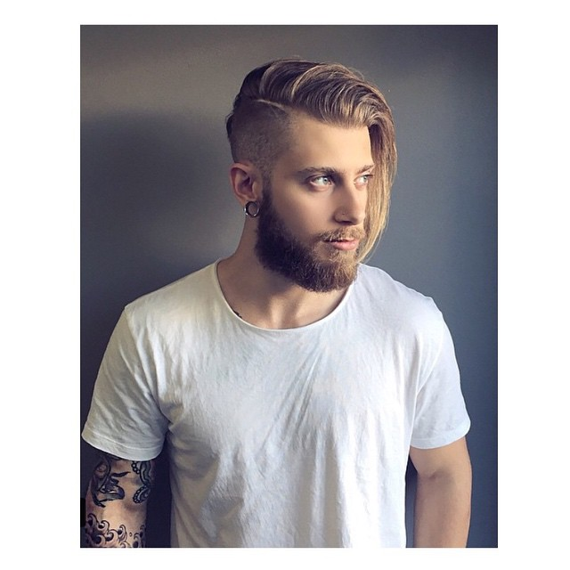 Combover With Side Shaved This Hairstyle For Men Having Medium