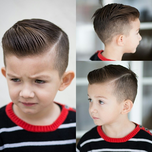 Faded hairstyle with side-part
