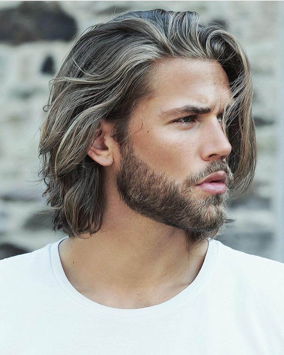 male medium length hair styles 60 best medium length hairstyles and haircuts for 8025 | 1 Long Textured Flowing Hair
