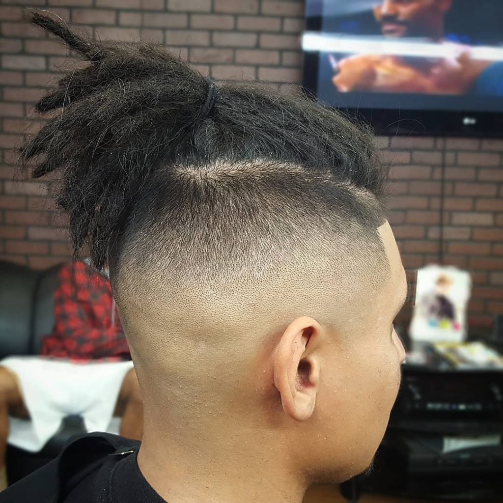 Undercut with Mini Dreads