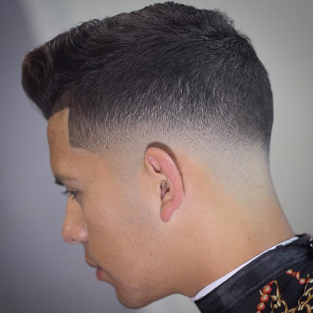 Cool Pompadour with Mid Fade