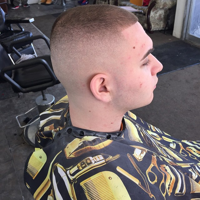 Square Hairline with High and Tight Style