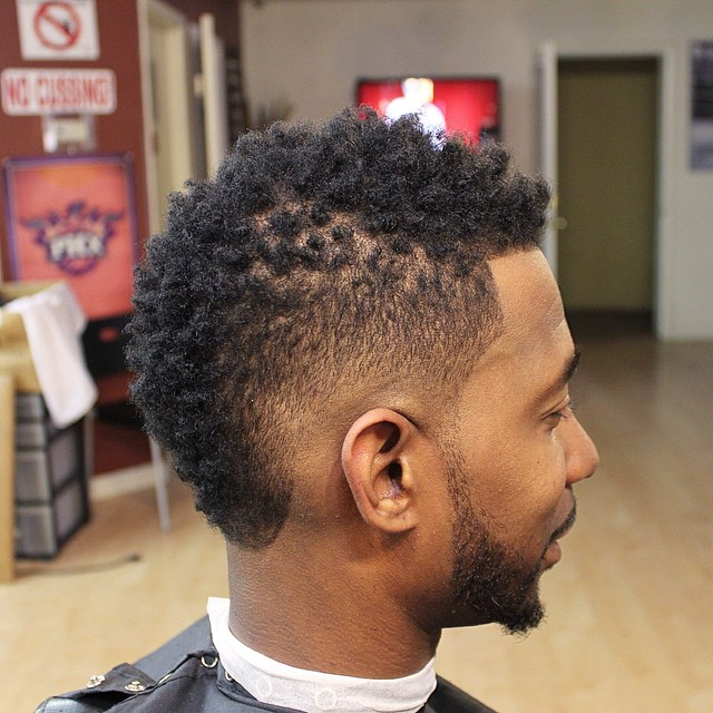 Black Guy Haircut with a Natural Twist