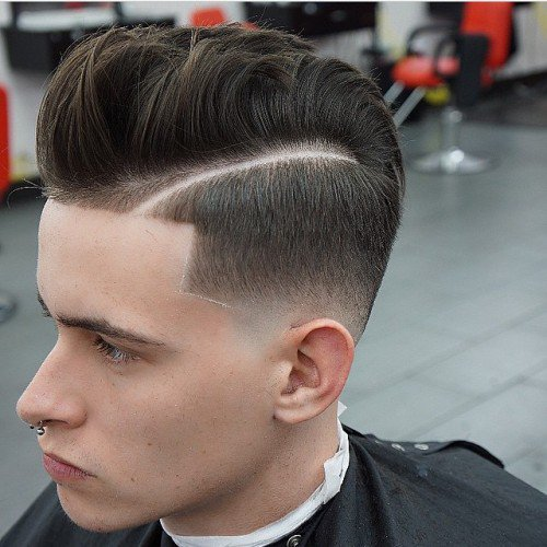 Pomp With Hard Part High Fade