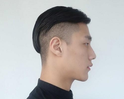 Low razor fade side