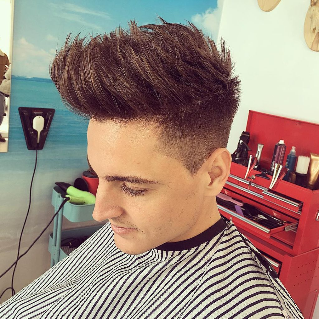 Long and Spiky Under Cut