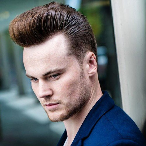 Tall Pompadour With Blended Sides Graduated Top