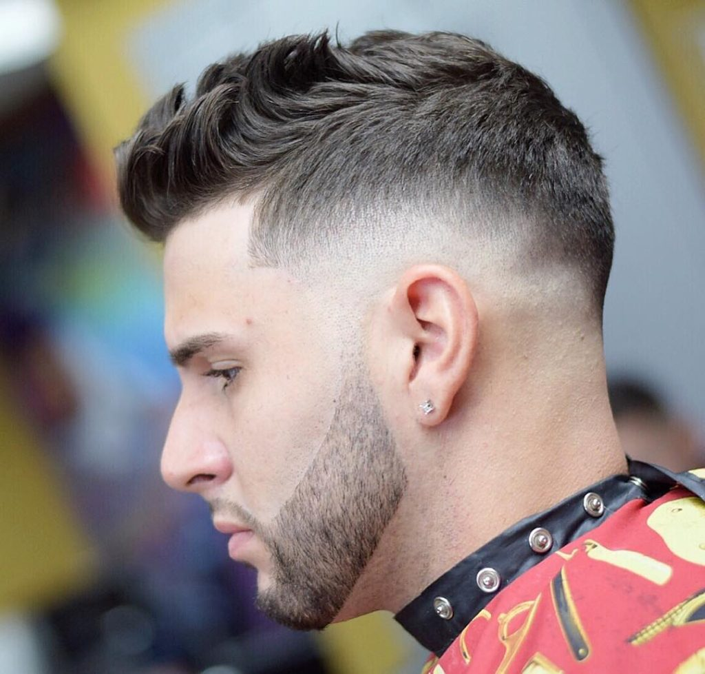 Tapered Fade With A Flip