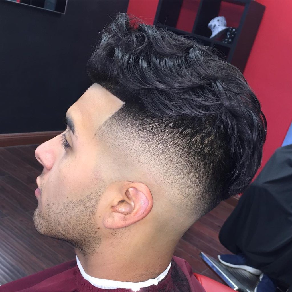 Wavy and Clean Undercut Haircut