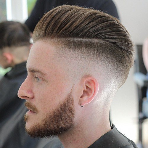 Bald Fade Disconnected Pompadour