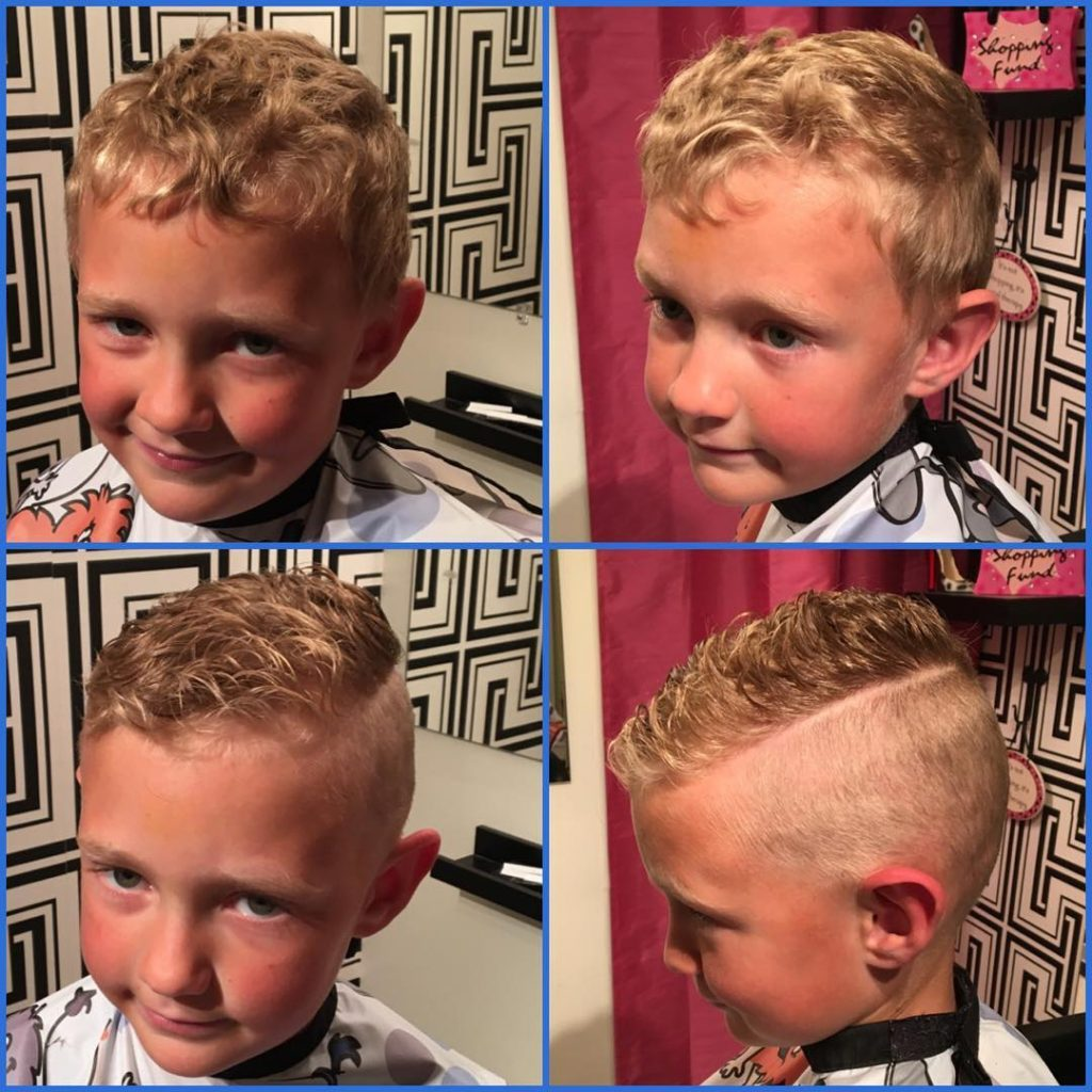 curly taper fade haircut for little ones