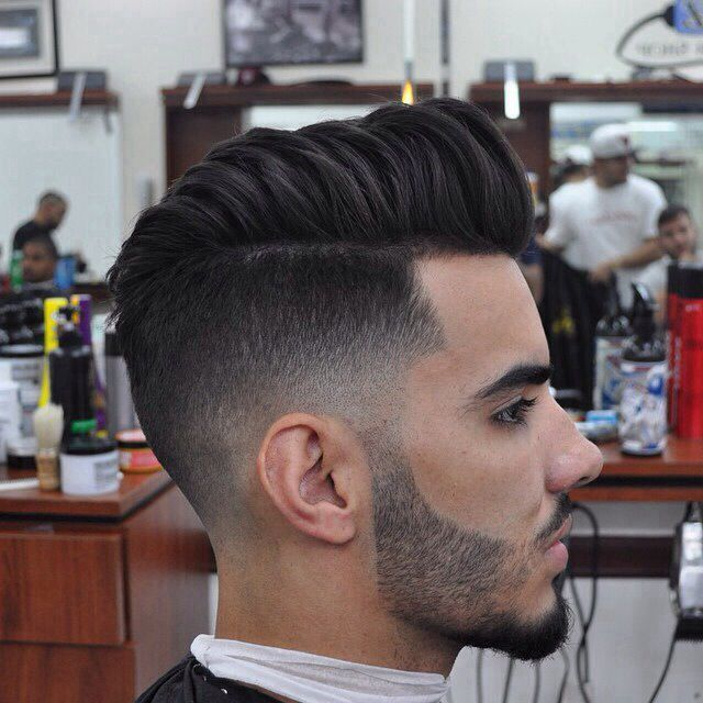 razor fade pompadour haircut