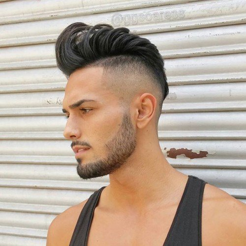 Loose Pompadour With High Fade