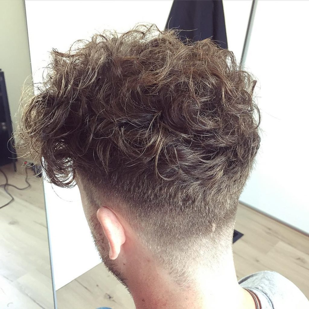 Wild and Curly Undercut Hair