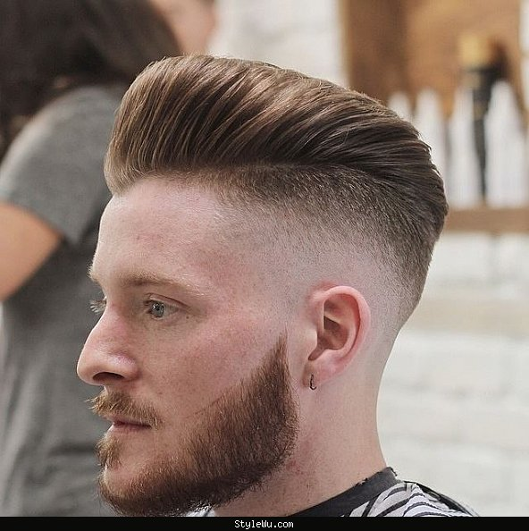 high fade pompadour haircut