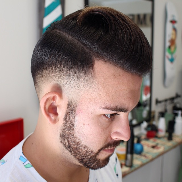 The Faded Pompadour Is One Of The Most Popular Pompadour Hairstyle Men,  Where The Hair, Grades From Long To Short And A Tidal Wave Pattern Is  Observed On ...