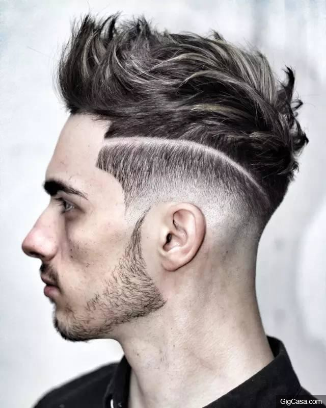 mens hairstyles shaved back and sides 2016