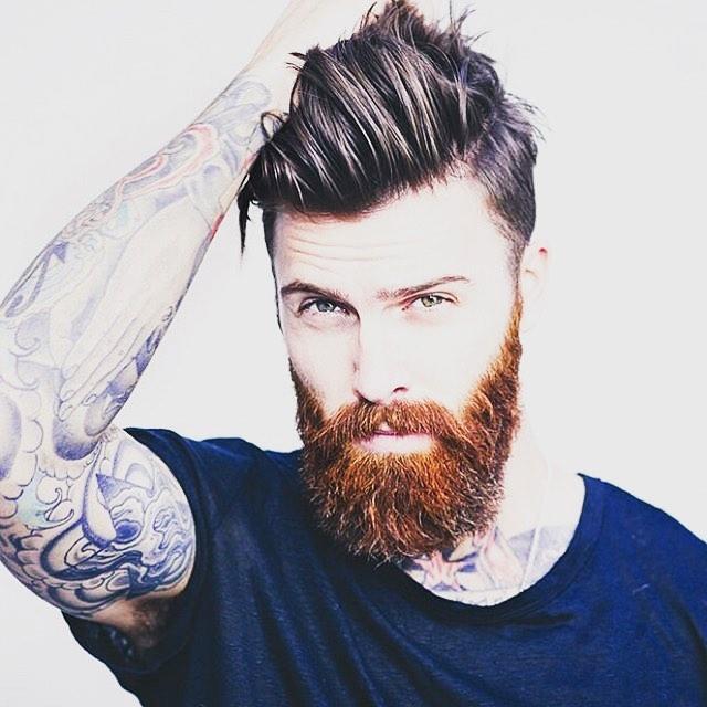 Pompadour Haircut with Beard