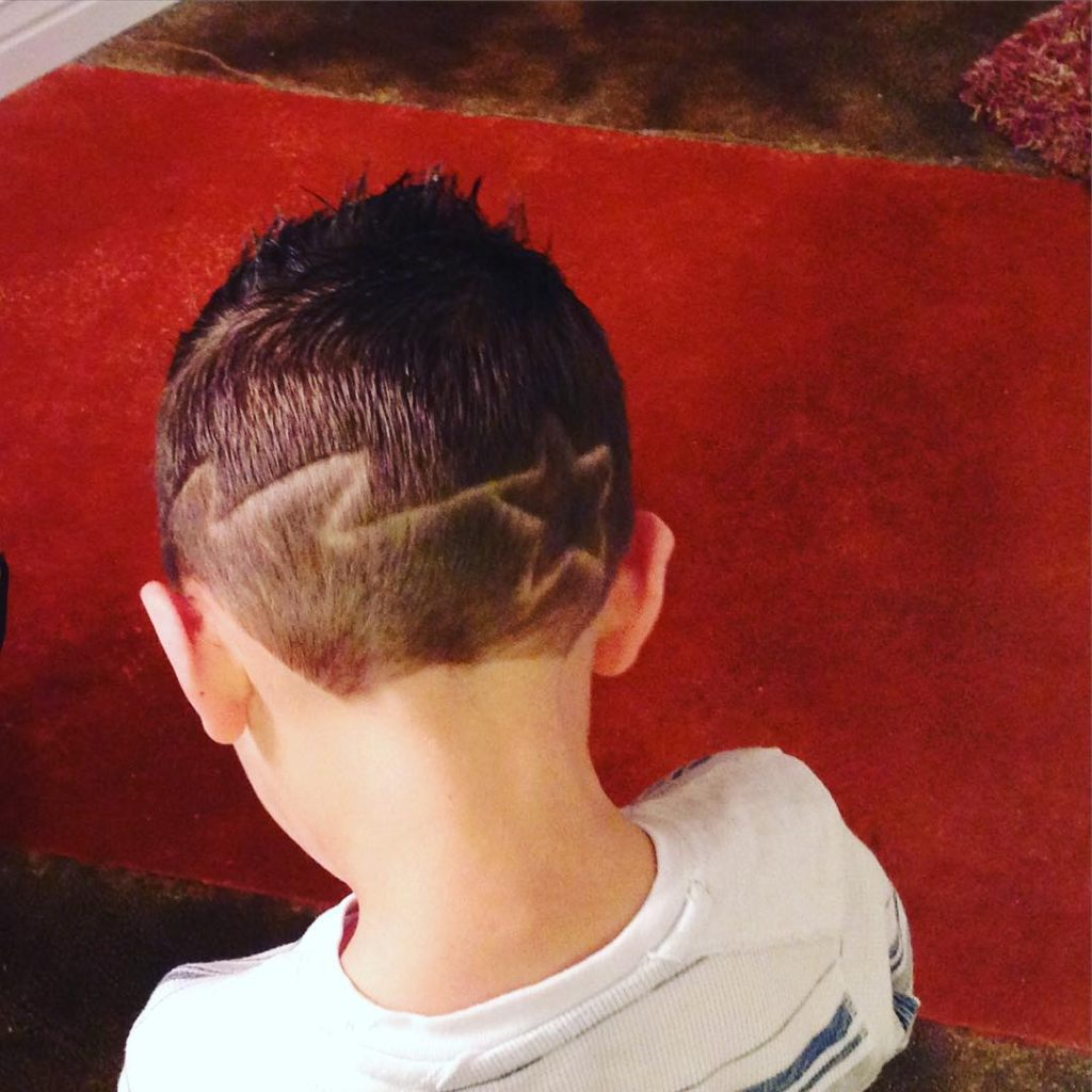 hairstyles with lightning Bolt with star