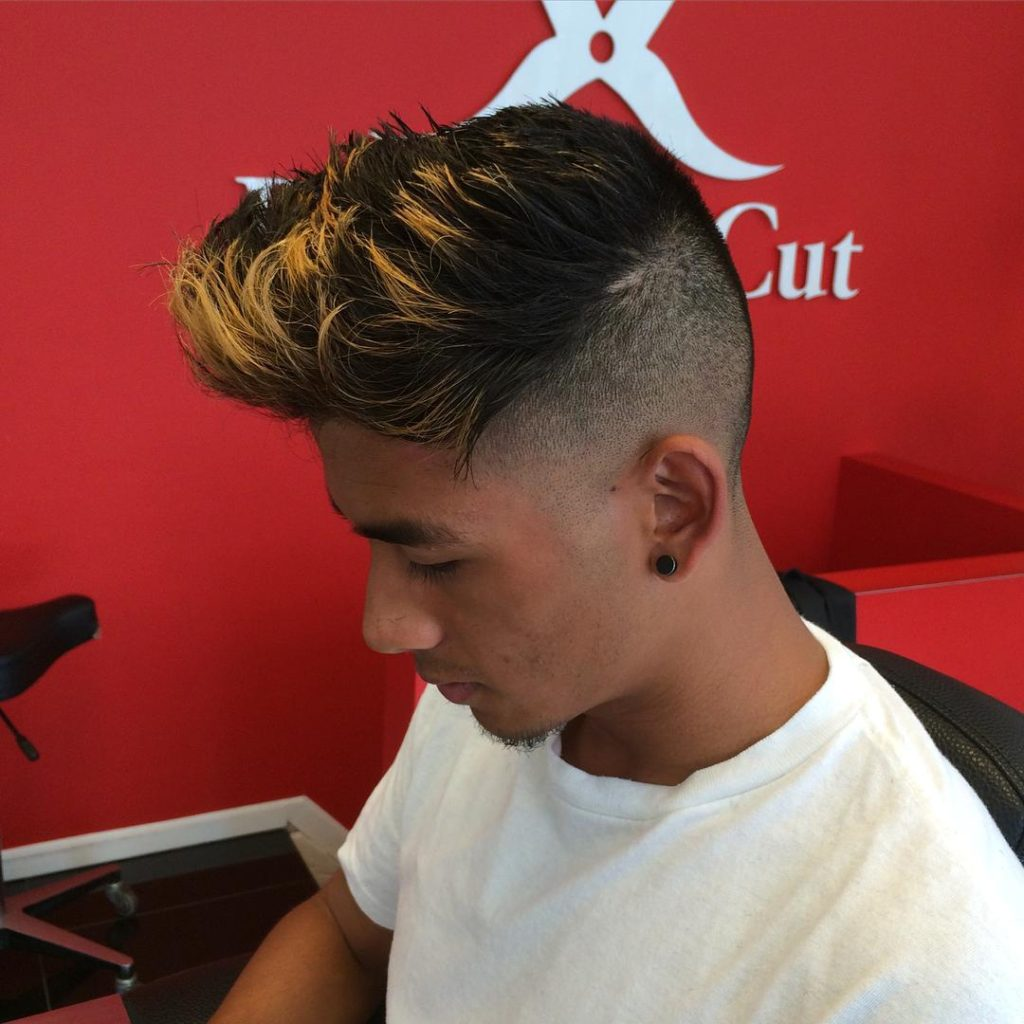 Undercut Pomp with Frosted Tips