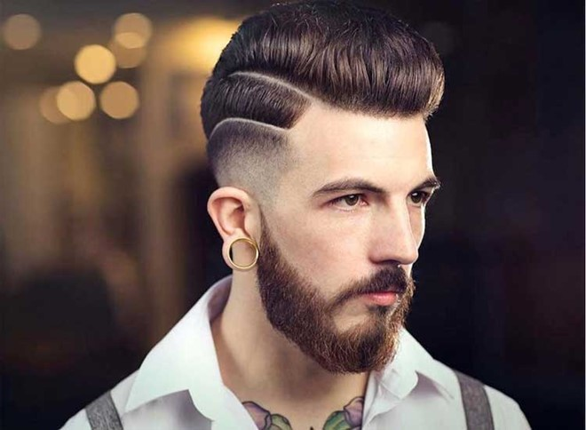 High Low Fade with Pompadour