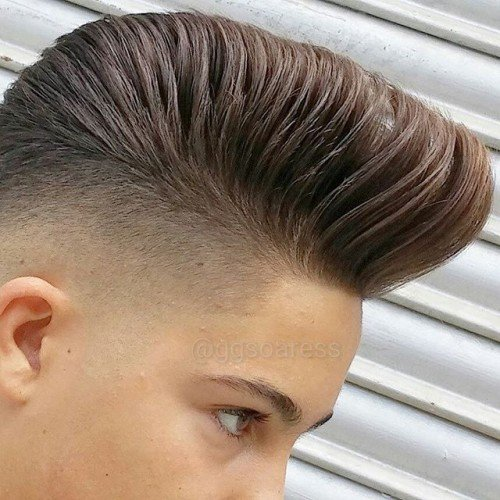 Big Old School Pompadour Haircut