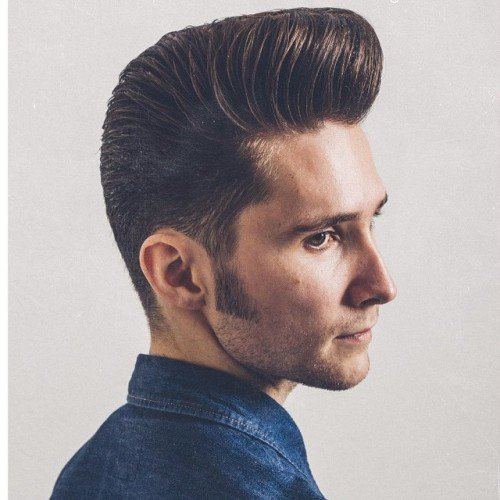 Classic Pompadour With Sideburns