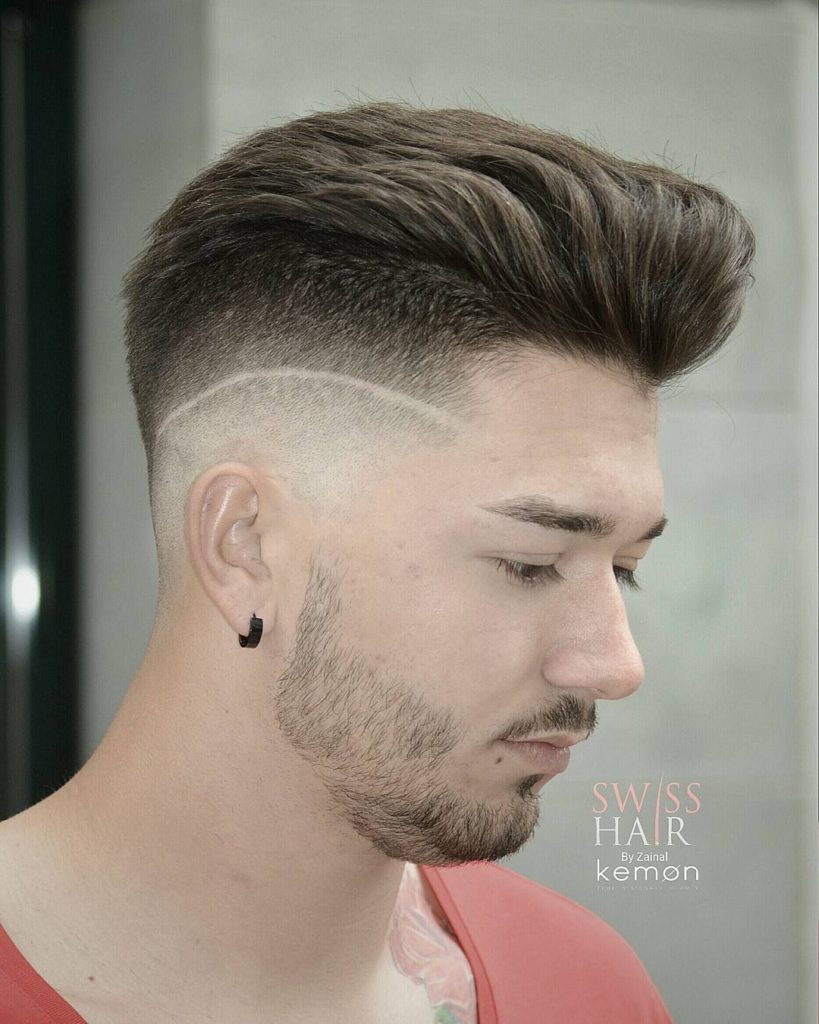Undercut comb over hairstyles with strip