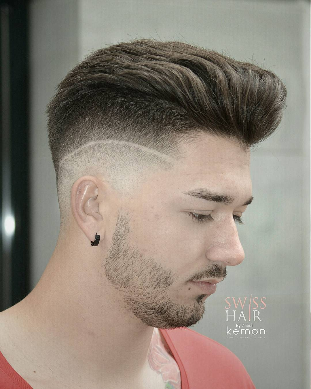 #56:Undercut Comb Over Hairstyles With Strip