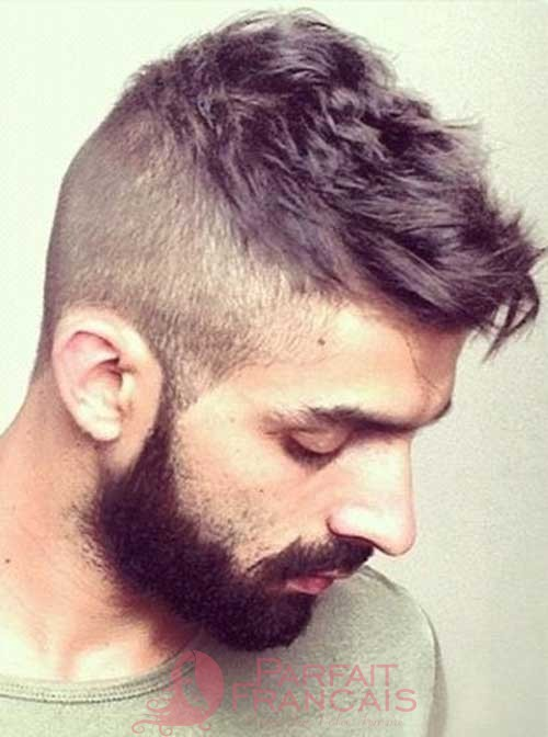#36: Side Shaved Mens Hairstyles With Beard