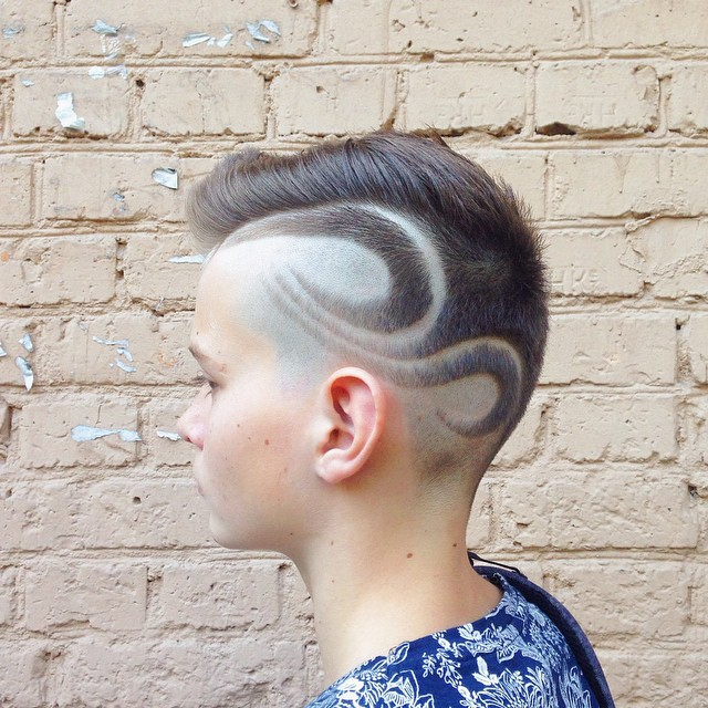 Side Undercut with Shaved Design