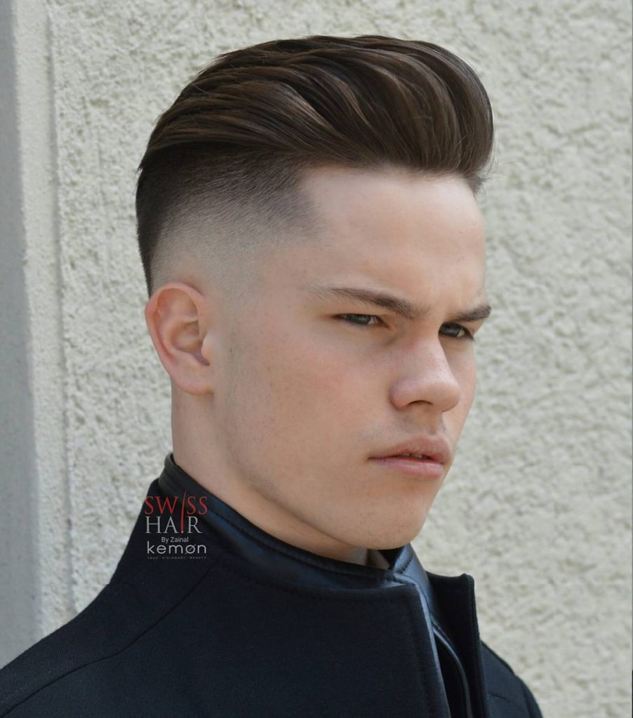 Undercut hairstyles with pompadour