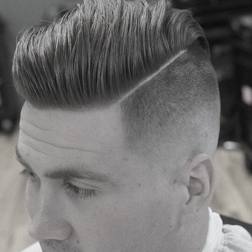 Fine Hard Part High Fade Pomp