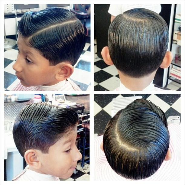 Comb Over Haircut For Little Boy