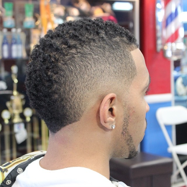 Curly and Creative Short Faux Hawk