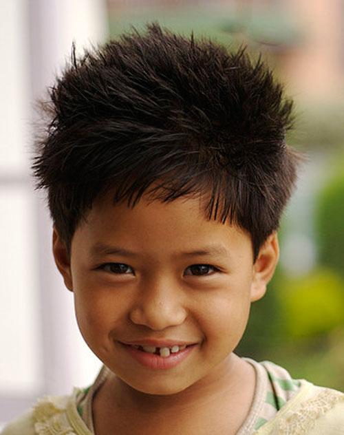 A spiky updo haircut