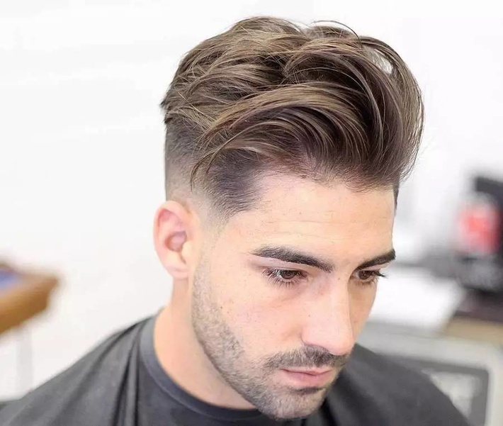 Long Textured Mid Fade Hairstyle