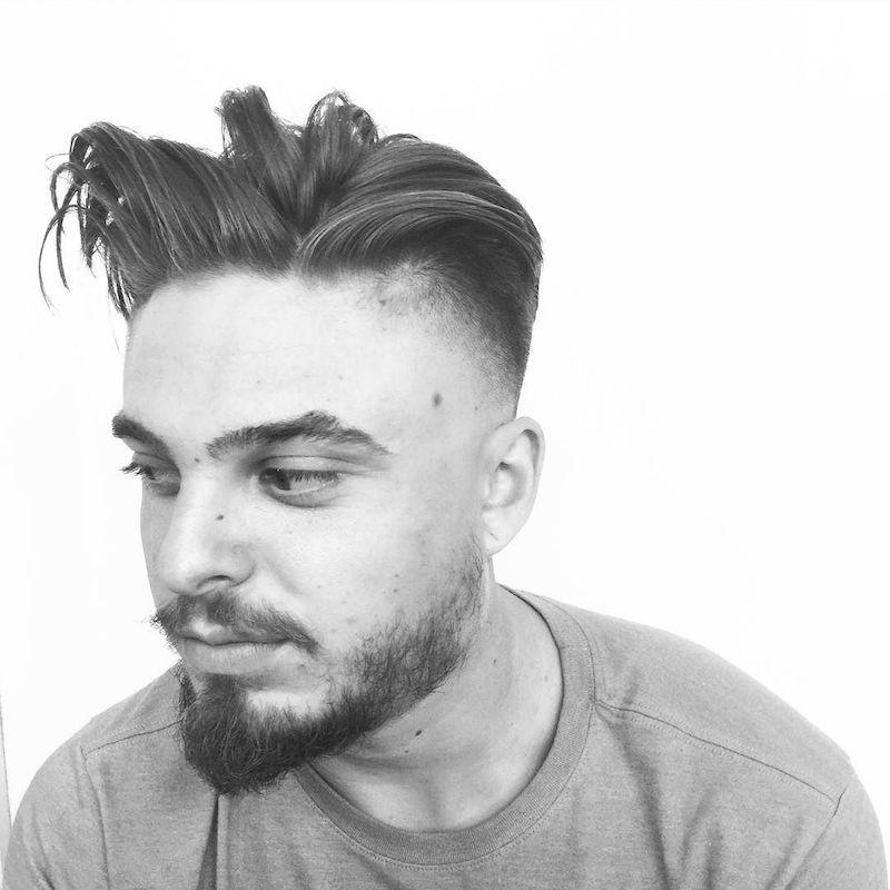 Balded Fade + Long Loose Hair