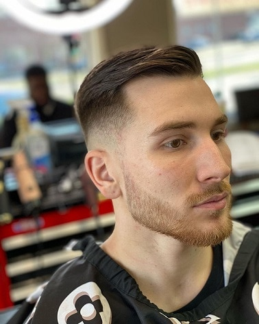 Blow Back Haircut with shaved Sides