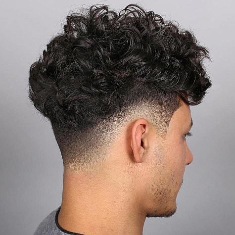 High Fade + Long Wavy Hair
