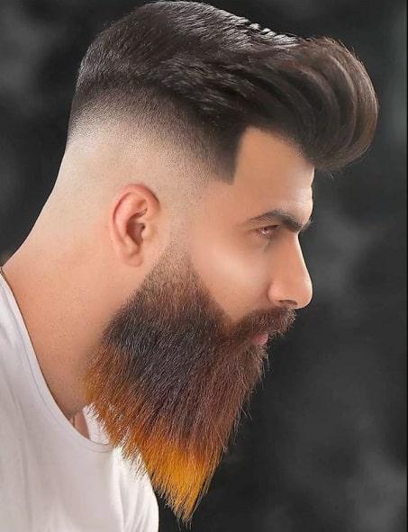 High Skin Fade + Longer Hair On Top