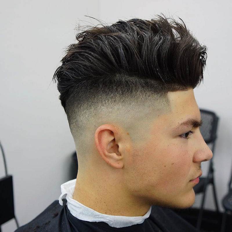 High Skin Fade + Longer Hair On Top