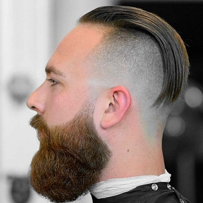 High Skin Fade with Long on Top