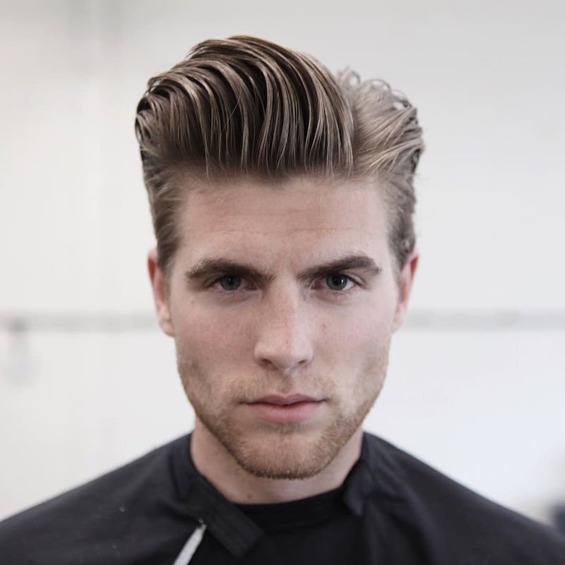 Longer Natural Hair Slick Pomp
