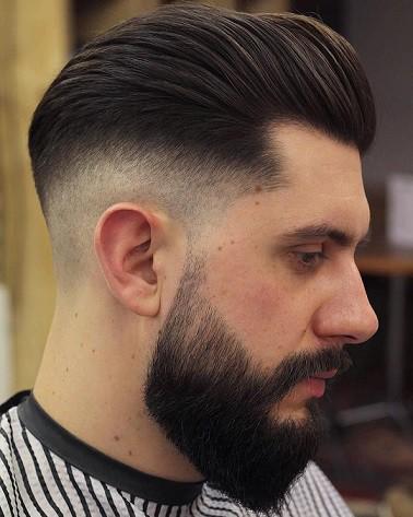 Medium Length Skin Fade + Beard