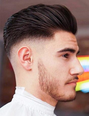 Men's Pompadour Haircut Fade