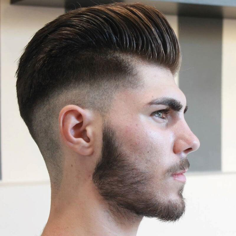 Men's Pompadour Haircut Fade
