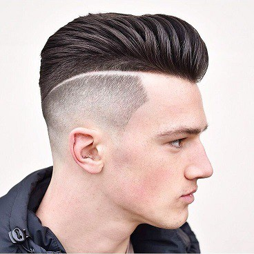 Men's hairstyles shaved back and side