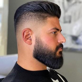 Short Brush Back Hair