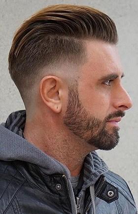 Short Side Part Slicked Back Haircut
